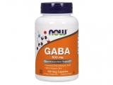 NOW GABA 500 mg + 2mg Vitamín B6, 100 kapslí
