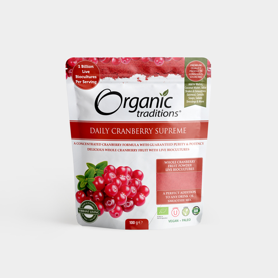 *DMT8/19**Daily Cranberry Supreme BIO, Organic Traditions