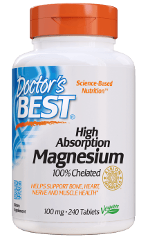 Magnesium 100% chelated 240tabl., Doctor´s Best