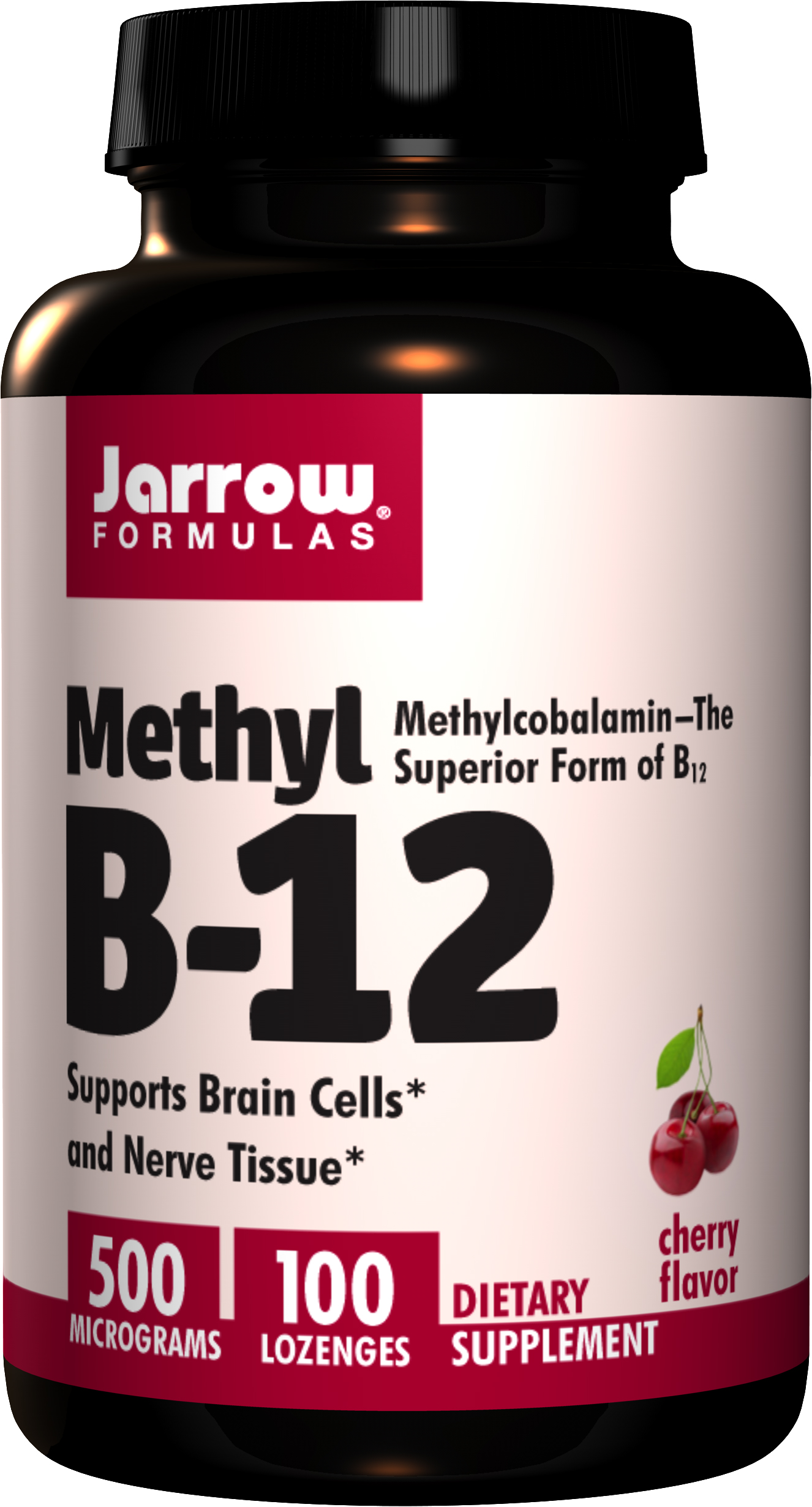 Jarrow Methyl B12, Vitamin B12 Metylkobalamin, 500 μg x 100 pastilek