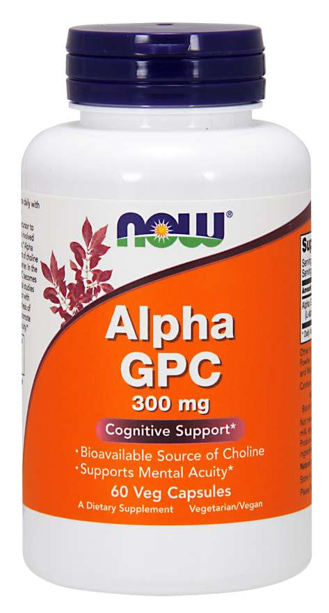 Alpha GPC 60 Vkaps., NOW Foods