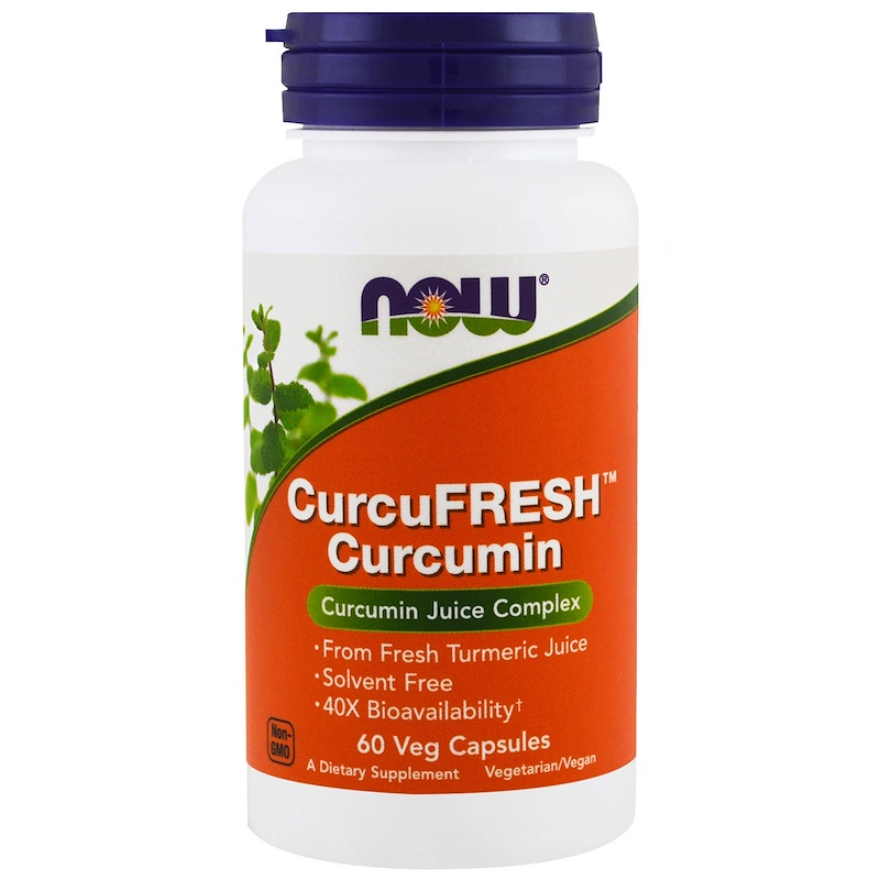 Now Foods, CurcuFresh Curcumin, 60 Veg Kapslí