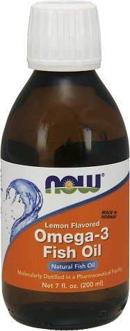 Now Foods Omega 3 Rybí olej Fish Oil Liquid Citrón 200 ml