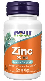 NOW Zinc 50 mg 100 tablet