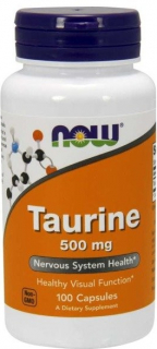 Now Foods Taurin 500 mg 100 kapslí