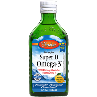 Super D Omega-3™, 250ml, Citrón - Carlson